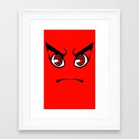 dangan ronpa Framed Art Prints featuring Dangan Ronpa Faces by AMC Art