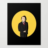 tintin Canvas Prints featuring Tintin style Mycroft by thediogenes