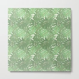 Vintage Florida Palm Fronds Pattern Metal Print