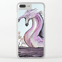 Pink snail Clear iPhone Case