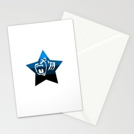 Quad Cali Blue Stationery Cards