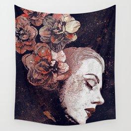 Obey Me: Blood (graffiti flower woman profile) Wall Tapestry