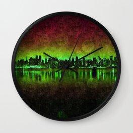 NYC Surreal Green Wall Clock