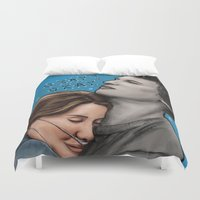 fault in our stars Duvet Covers featuring The Fault In Our Stars by Adora Chloe