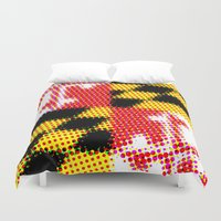 maryland Duvet Covers featuring Pop Maryland Flag by RSG514