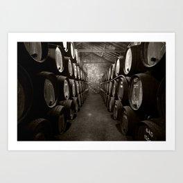 Barrels of Porto Art Print