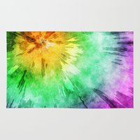 tie dye Area & Throw Rugs featuring Colorful Tie Dye Design by Phil Perkins