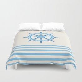 AFE Baby Blue Helm Wheel, Nautical Art Duvet Cover