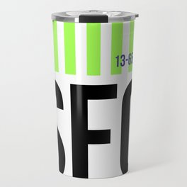 SFO San Francisco Luggage Tag 3 Travel Mug