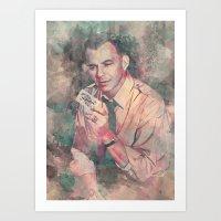 frank sinatra Art Prints featuring Frank Sinatra by Nechifor Ionut