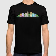 Park Slope Skyline (Color) MEDIUM Black Mens Fitted Tee