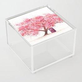 Tardis Tree Art Blossom Acrylic Box