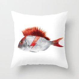 FISHY STARDUST Throw Pillow