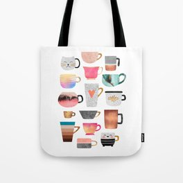 Coffee Cup Collection Tote Bag