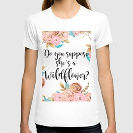 Blush and gold wildflower T-shirt