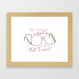 Funny Sofia Quote - The Golden Girls Framed Art Print