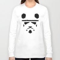 trooper Long Sleeve T-shirts featuring Panda Trooper by Danny Haas