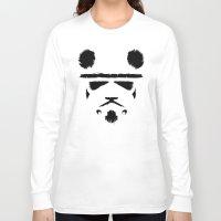 panda Long Sleeve T-shirts featuring Panda Trooper by Danny Haas