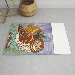 Little Owl with Packed Basket Rug