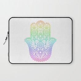 Rainbow Hamsa Laptop Sleeve