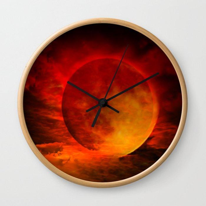 Blutmond Wall Clock