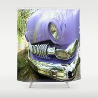 ford Shower Curtains featuring 1951 Ford Mercury by Chris' Landscape Images & Designs