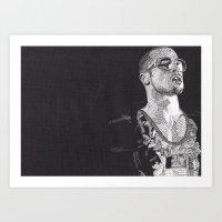 tyler spangler Art Prints featuring Tyler Durden by Rik Reimert