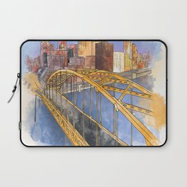 Pittsburgh Fort Pitt and Downtown Laptop Sleeve