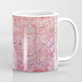 N45 - Pink Vintage Traditional Moroccan Boho & Farmhouse Style Artwork. Coffee Mug