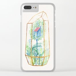 Terrarium Garden III Clear iPhone Case