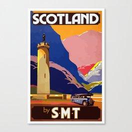 Vintage 1950's Scottish Tourism Poster - Scotland Canvas Print