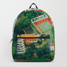 Tennis Court City View (Color) Backpack