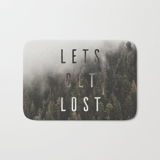 Let's get Lost Together Bath Mat