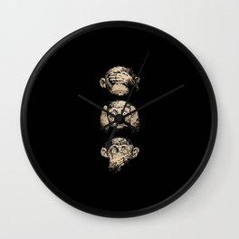 3 wise monkeys Wall Clock