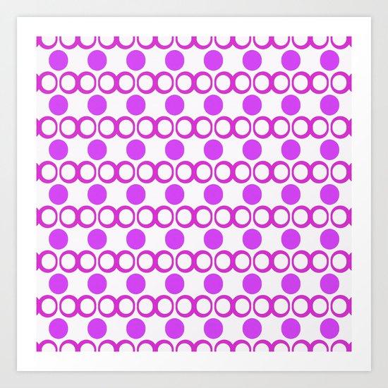 Retrocity in Grape Art Print