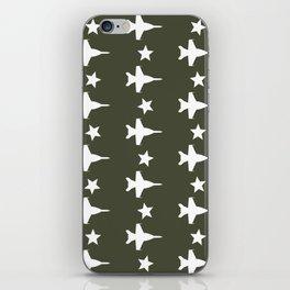 F-18 Hornet Fighter Jet Pattern iPhone Skin