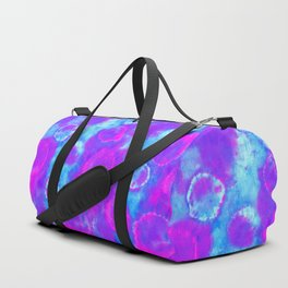 Multicolored Tie-Dye Orbs Duffle Bag