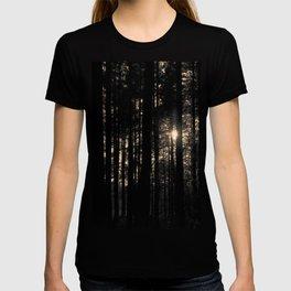 Sun between trees T-shirt