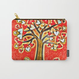 Watercolor Love Tree Carry-All Pouch