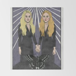 The Twins Throw Blanket