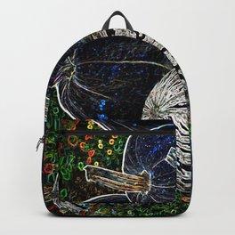 Midnight Galaxy Pumpkin Fantasy Garden Backpack