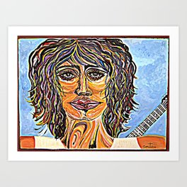Guitar Back me Up - Ground Art Print