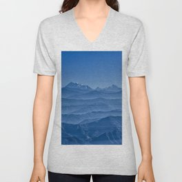 Blue Hima-layers Unisex V-Neck
