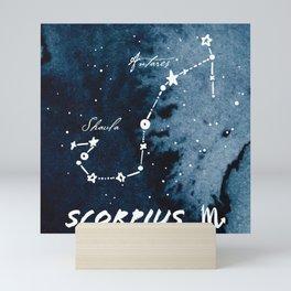 Scorpius Zodiac Constellation 2 Mini Art Print