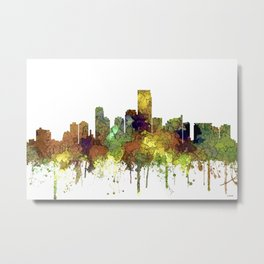 Jersey City Skyline - Safari Buff Metal Print