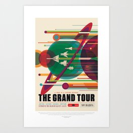 NASA Visions of the Future - The Grand Tour, a Once in a Lifetime Getaway Art Print