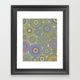 Kaleidoscopic-Jardin colorway Framed Art Print