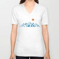 napoleon V-neck T-shirts featuring Napoleon Mountain by birdandtree