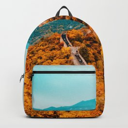 The Great Wall of China in Autumn (Color) Backpack