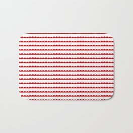Red Scallop Bath Mat